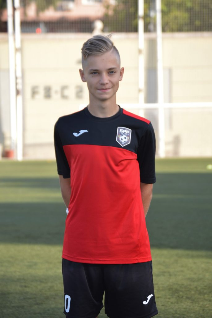 Yarik SPF Academy player in a soccer academy in Spain.
