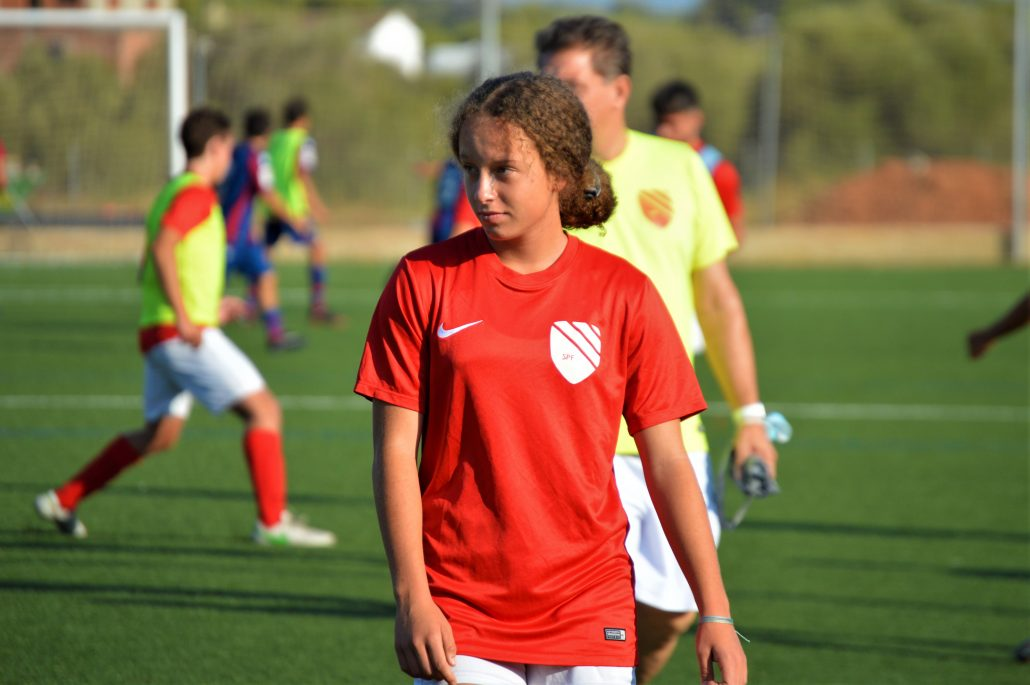 Ava during her training camp in Spain